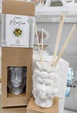 Profumatore in porcellana testa di moro cm 5x8 con box e essenza €9.50 ,  modelli assortiti