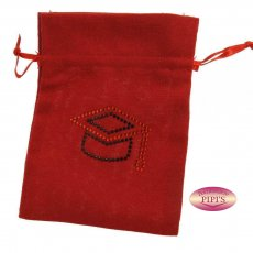 BUSTA CANAPA TOCCO 10X12,5 C/TIR. -ROSSO