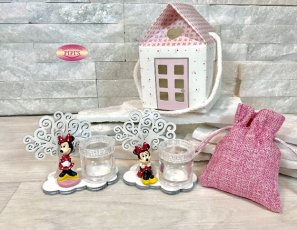 MINNIE PARTY CON ALBERO PORTAPENSIERI 6X7CM CON BOX