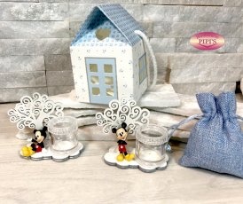 MICKEY PARTY CON ALBERO PORTAPENSIERI 6X7CM CON BOX