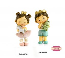 CALAMITA PRINCIPESSA/PRINNCIPINO 7 CM. RESINA
