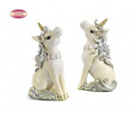 UNICORNO 10.7 CM. 2 AS. RESINA